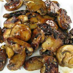 Caramelized Garlic Mushrooms Recipe with balsamic and brown sugar