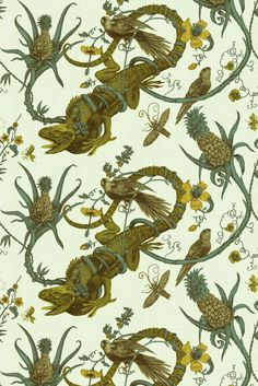 Timorous Beasties Wallcoverings - Iguana Solid Wallcovering