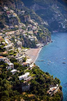 The coastal town of Positano Italy on the Amalfi Coast