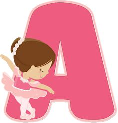 Ballerina Birthday Parties, Ballerina Party, Baby Ballerina, Monogram Alphabet, Alphabet And Numbers, Baby Painting, Fabric Painting, Cute Wallpaper Backgrounds, Cute Wallpapers