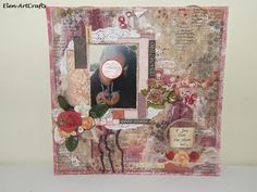 Elen ArtCrafts: Η ζωή είναι στα χέρια σου.../Life is in your hands... Mixed Media, Layout, Frame, Life, Home Decor, Picture Frame, Decoration Home, Page Layout, Room Decor