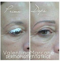 Anestetico sopracciglia  Esperti di trucco semipermanente permanente prima e dopo trattamento occhi eyeliner