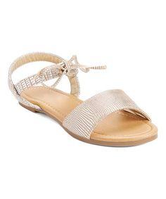 Gold Cody Snake Tie Sandal #zulily #zulilyfinds