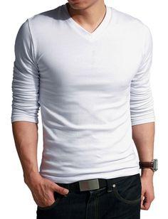 Basic White Tee for Men Fashion