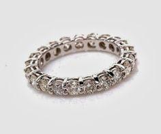 Eternity WEDDING BAND Diamond Right Hand by BeautifulPetra, $2000.00