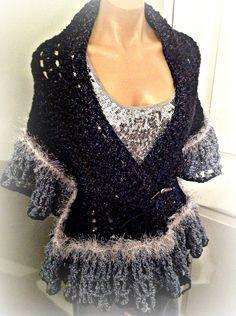 crochet wrap shawl $65
