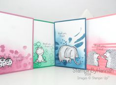 Note cards featuring Love You Lots from Stampin' Up! UK