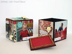 Photocube for candies by Hana Heart Art, Hana, Candies, Decorative Boxes, Scrapbook, Create, Blog, Inspiration, Home Decor