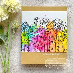 Taylored Expressions June Release Sneak Peeks: Day 3 – My Love For Paper Watercolor Cards, Watercolor Background, Watercolor Ideas, Watercolor Flowers, Painted Rocks, Hand Painted, Ink Pads, Background Patterns, Homemade Cards