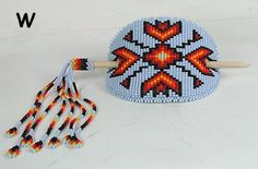 Authentic Lakota Sioux Hand Beaded Stick barrette