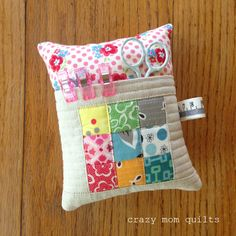 crazy mom quilts: deluxe pin cushion (or, unstuffed, it makes an adorable sleeping bag)