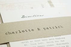 Peony Wedding Invitation (Rustic, Old World Charm). $6.45, via Etsy.