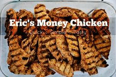 Hey Everyone! Today we're going to look at how my husband cooks Money Chicken. We call it that because it's MONEY! We have it on hand, in our refrigerator 24/7. It is a large part of our diet so he cooks it in bulk. This is great because we are not constantly preparing meals or stuck without…