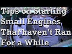A few tips/tricks on starting small engines that haven't been run for a while. Almost always have to clean the carburetor if its been sitting a while with ga. Lawn Mower Maintenance, Lawn Mower Repair, Chainsaw Repair, Lawn Care Business, Lawn Equipment, Engine Repair, Small Engine, Home Repair, Just In Case