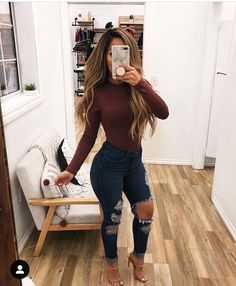 Women Jeans Outfit Womens Waterproof Coats With Hoods Khaki Linen Trousers Long Silk Dress Culotte Shorts Mens White Chinos Jeans And Heels Outfit – orchidrlily Body Suit Outfits, Heels Outfits, Jean Outfits, Distressed Jeans Outfit, Trendy Outfits, Fall Outfits, Cute Outfits, Fashion Outfits, Casual Bar Outfits