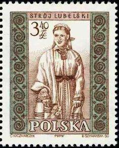 Polonia-Trajes Regionales-Traje femenino de Lublin