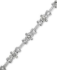 Charter Club Bracelet, Crystal Flower Link - Fashion Jewelry - Jewelry & Watches - Macy's