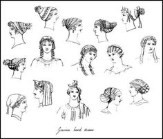 ANCIENT GREEK WOMENS FASHION: Women's hairstyles and