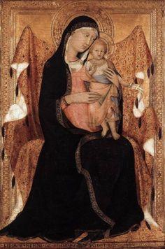 Lippo Memmi - Madonna con Bambino - 1320-1322 - tempera e oro su tavola - Lindenau-Museum, Altenburg