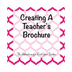 The Adventure of a First Year Teacher : Teacher Brochure