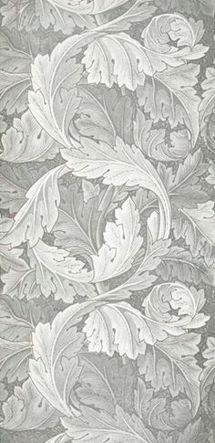 """Acanthus wallpaper from """"Morris Wall-Papers by Morris Company Ltd.,"""" William Morris, designer."""