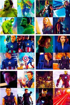 The Avengers. Hulk, Thor, Captain America, Black Widow, Hawkeye, and Iron Man!