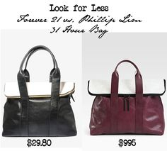 9a7880f83c Look for Less  Forever 21 vs. 3.1 Phillip Lim 31 Hour Bag