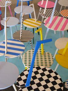 Cicognino, Andrea Sala, Intervento pittorico sul Cicognino di Franco Albini - Pictorial intervention on Cicognino by Franco Albini, 2009, courtesy Andrea Sala / Federica Schiavo Gallery, Roma