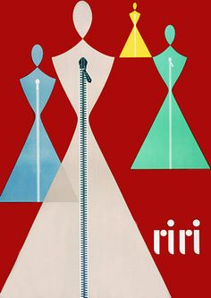 Riri Zippers Vintage Sewing 1940s Posters and Prints
