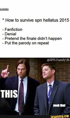 I love that everyone knows about the parody, even if you're not in the SPN fandom