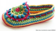 Mocasín de adulto en crochet