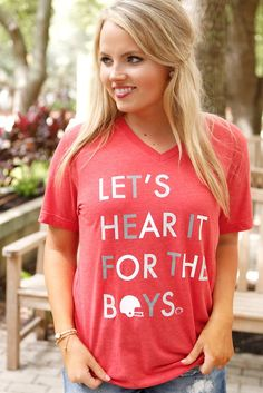 Let's Hear It For The Boys - Red - SS Made out of 50% Polyester, 50% Cotton…