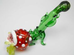 Glass Pipe Super Mario Piranha Plant Drooling by XylieGlass, $135.00