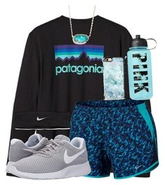 Workout ♀️ by nhumphrey ❤ liked on Polyvore featuring Patagonia, NIKE, Casetify, Kendra Scott and Victorias Secret