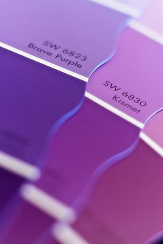 Different Shades of Purple Paint Samples Purple Love, Purple Lilac, All Things Purple, Shades Of Purple, Deep Purple, Periwinkle, Magenta, Red And Blue, Purple Colors