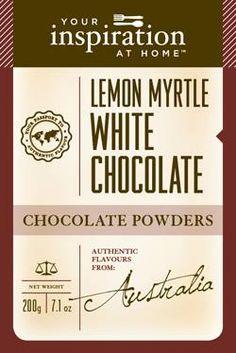 Lemon Myrtle White Chocolate Chocolate Powder #yiah #chocolate