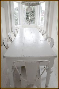 Dining Room Table With Bench White.Farmhouse Dining Room Table And Bench Made Using For . Black Velvet Chair: Wingback Chair At The Dining Table . Home and Family House Design, Kitchen Table Bench, White Farmhouse Table, Beach House Decor, White Decor, White Dining Room, Long Dining Table, Home Decor, White Dining Room Table