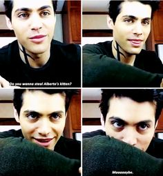 #TMI #Shadowhunters Cast | Matthew Daddario as Alec Lightwood | about Alberto Rosende's kitten