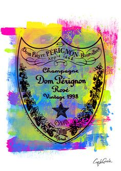 NO.323 A2 Dom Perignon Roseオマージュアート ブランドオマージュ ポスターフレームセット   MakeSenseLLC