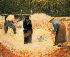 Les casseurs de pierres, Le Raincy - (Georges Pierre Seurat)