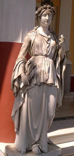 Erato, the Muse of Love Poetry , in Achílleion, Kerkira (Corfu), Greece.