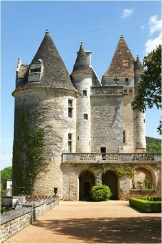 Chateau de Milandes ~ Dordogne ~ France ~ For some time, Josephine Baker lived with her children and an enormous staff in this castle in France.