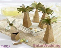 palmboom gunst doos BETER-TH014 de doos van het huwelijkssuikergoed http://www.aliexpress.com/store/512567
