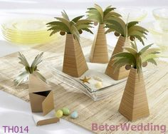 60pcs Free Shipping TH014 Palm Tree Wedding Favor Box  #weddinggifts #weddingbubbles #soapfavors #soaps #babygifts #babyshowerfavors #bridesmaidgifts #babyshower #clearancesale #saltnpeppershakers #weddingfavors by Shanghai Beter Gifts CO Ltd上海倍乐礼品 ; http://www.aliexpress.com/store/513753
