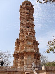 The VIJAY STAMBHA (aka Tower Of Victory) of CHITTORGARH FORT • 15th c. • Maurya Empire • Chittorgarh, India • http://www.chittorgarh.com/tourism_at_chittorgarh.asp