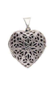 Silver Filigree Heart Locket #jewellery #silver #locket #pendant #filigree Silver Filigree, 925 Silver, Sterling Silver, Locket Design, Silver Lockets, Heart Locket, Jewelry Collection, Christmas Bulbs, Jewellery
