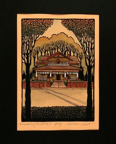 Bungalows of the South II Print by Kathleen West Print  #Missionprints