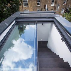Glazing Vision Europe - Project - Three Wall boxes on townhouses in Islington - Rooftop Terrace Design, Rooftop Deck, Backyard Decks, Roof Access Hatch, Outdoor Pergola, Pergola Kits, Pergola Ideas, Roof Window, Wall Boxes