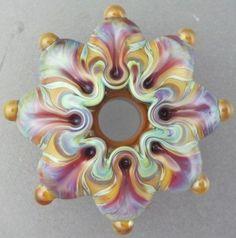 Handmade Lampwork Glass Focal Bead ~ BLISSFUL by Leah Nietz