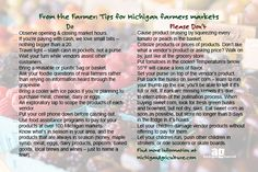 From the Farmer: Tips for shopping at Michigan farmers markets #localfood